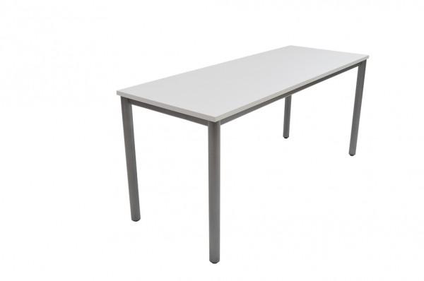 Schreibtisch, grau-hellgrau, höhenverstellbar