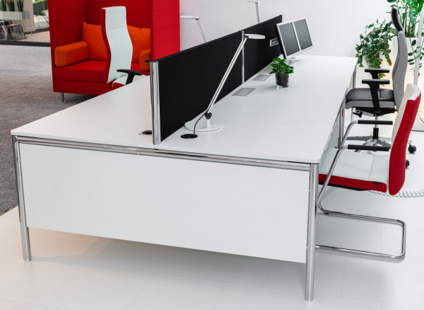 Bosse - Systemtisch S-Desk Kombination - B: 160 x T: 160 x H: 80 cm - weiß