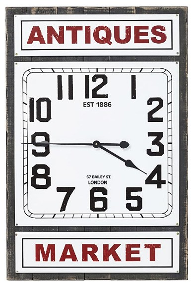 Kare Design - Wanduhr - Antique Market - 56 x 85 cm