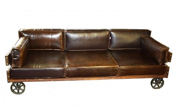 Kare Design! - Vintage Retro Sofa - Echtleder (Rindsleder geölt und gewachst) - Fotomuster