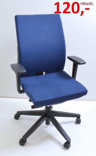 Drehstuhl Comforto 39 mit Armlehnen - blau - Haworth