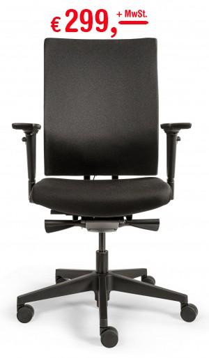 Drehstuhl 787 Edition EX Comfort - tiefenverstellbare Lordosenstütze - schwarz-