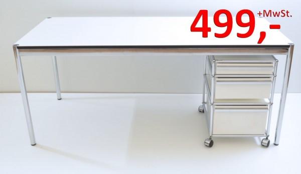 Schreibtisch - 175 cm - weiß - USM-Haller