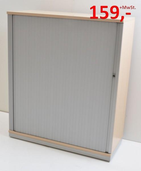 Querrollladenschrank - 3 OH, Griffleiste - Ahorn Silber - Steelcase