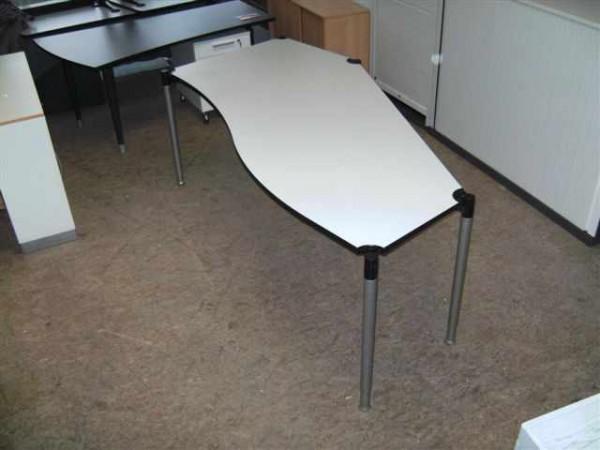 Schreibtisch Freiform - hellgrau - VS-Möbel