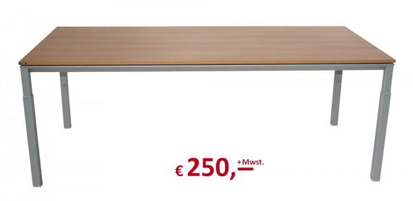 Schreibtisch - höhenverstellbar - FSC-Siegel - nussbaum