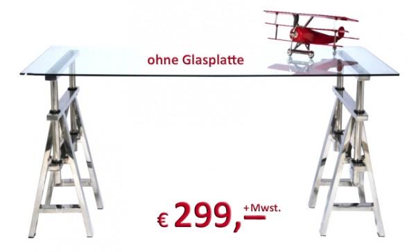 Kare Design - Tischbock Pintor - 2er-Set - Edelstahl