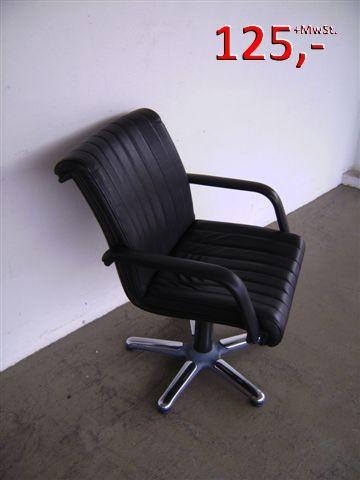 Konferenzstuhl - Leder schwarz - Pohlschröder