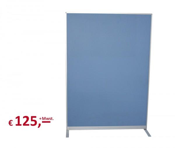 Trennwand - 170 x 120 cm - Rahmenteile: Aluminium - akustisch wirksam