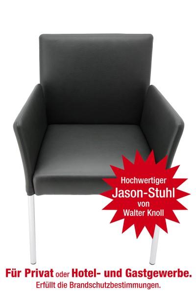 Walter Knoll - Stuhl mit Armlehnen - geeignet als Konferenz- oder Empfangsstuhl, sehr hochwertig