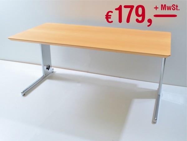 Schreibtisch - 160 cm, höhenverstellbar - Ahorn - Svoboda