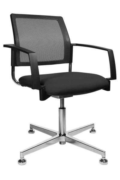 Topstar Polster-Drehsessel - schwarz - mit beweglichem Sitzgelenk (3D-Box)