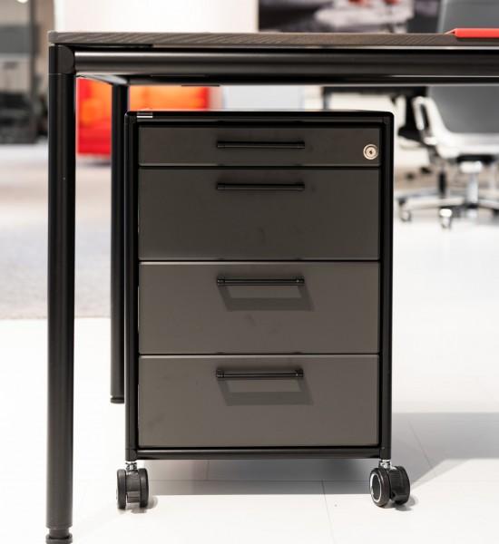 Bosse - Rollcontainer - Metall: schwarz - B: 43 cm / H. 62 cm / T: 60 cm