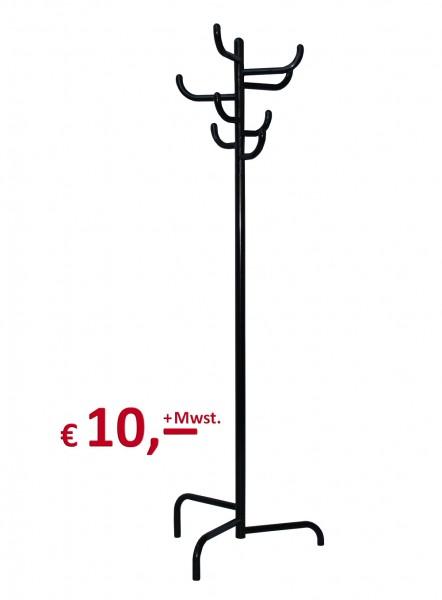 Kleiderständer - Modell Kaktus - 8 Haken - Gestell aus Rundrohr - schwarz