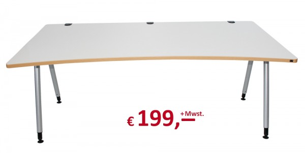 Schreibtisch - höhenverstellbar - teilweise Neuware - Kabaelkanal - König & Neurath