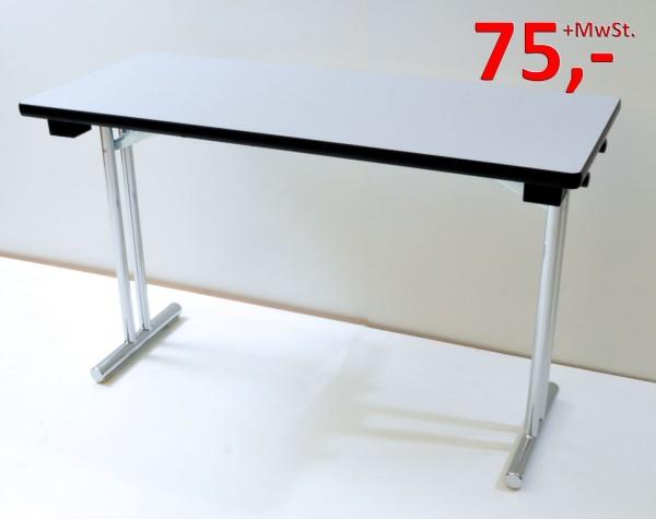 Klapptisch - 120 x 50 cm - grau/Chrom