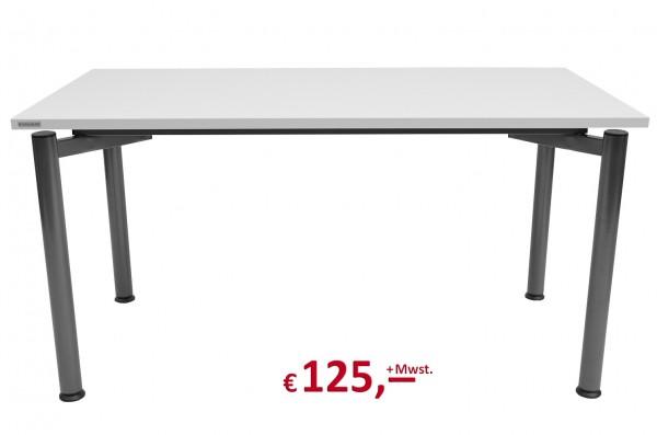 Vielhauer - System-Tisch Ergo - Platte: officegrau - Gestell: anthrazit-metallic