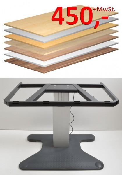 Rose + Krieger Schreibtisch-Gestell, elektrisch höhenverstellbar - Platte optional