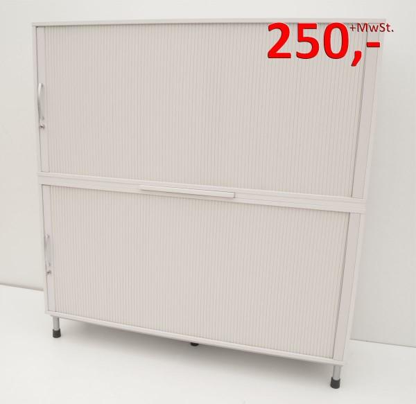 Querrollladenschrank - 4 OH, 160 cm - weißgrau - Haworth