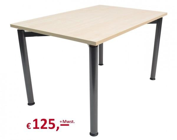 Vielhauer - System-Tisch Ergo - Dekorplatte: Ahorn - Gestell: Rundfuß in Anthrazitmetallic