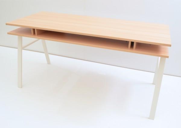 Schreibtisch - 160 cm - mit Schiebeplatte - Buche Dekor - Maja