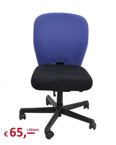 Vitra - Bürostuhl - Sitzfläche: schwarz - Rückenlehne: blau - Rückenlehne verstellbar