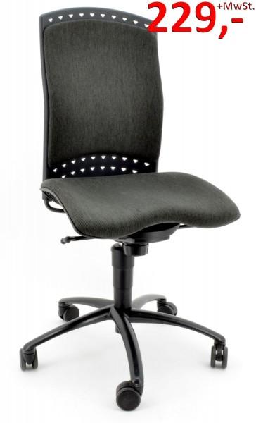 Bürodrehstuhl Reality mit Rückenpolster - anthrazit - von Sitag
