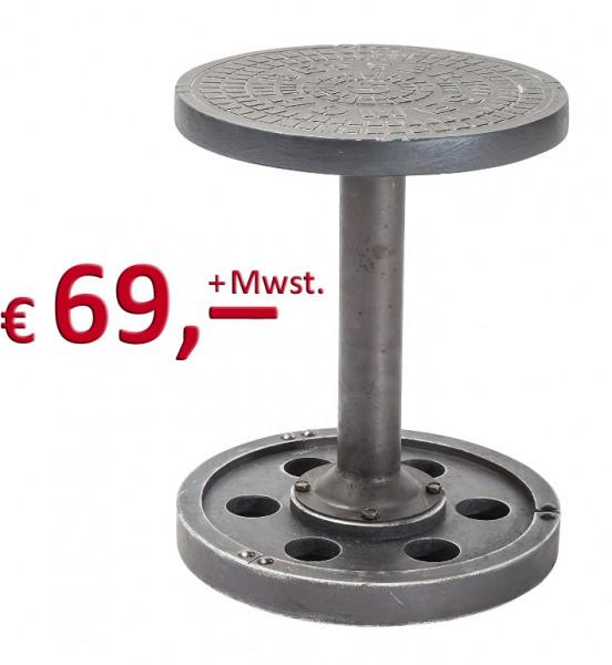 Kare Design - Hocker Profile - Durchmesser 34 cm - Metall