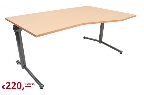 Vielhauer - System-Komfort Schreibtisch - Platte: Buche Dekor - Gestell: anthrazit-metallic