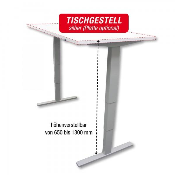 Tischgestell silber - elektrisch höhenverstellbar - Breite: 140 bis 200 cm - zur Selbstmontage