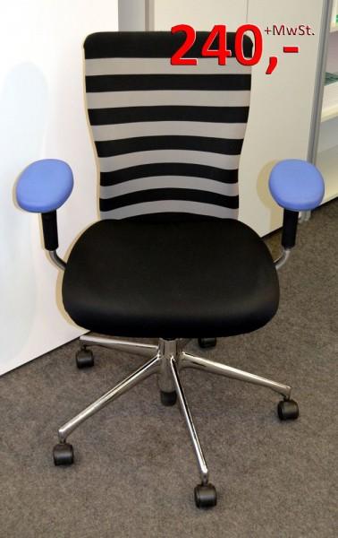 Drehstuhl T-Chair Citterio - schwarz/grau - Vitra