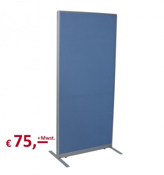 Trennwand - 170 x 80 cm - Rahmenteile: Aluminium - akustisch wirksam