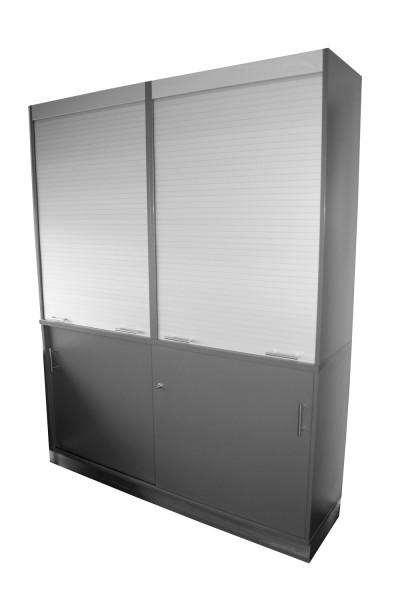 Schrank - 160 x 47 cm - Höhe 206 cm - abschließbar - 2 x Rollladen
