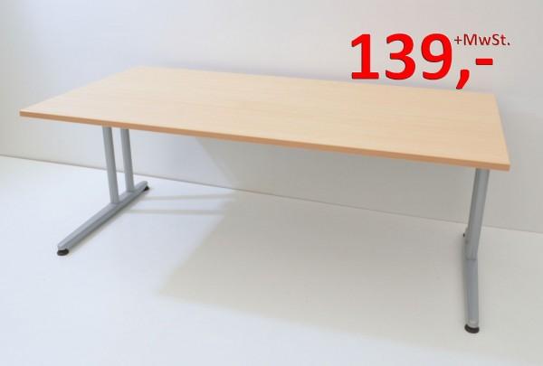 Schreibtisch - 180 cm - C-Fuß Gestell Variante 2 - Ahorn - Schärf