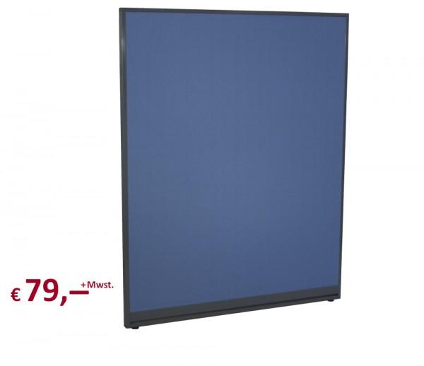 Raumteiler - 150 x 120 cm - akustisch wirksam - Rahmen: metall anthrazit-farbig lackiert