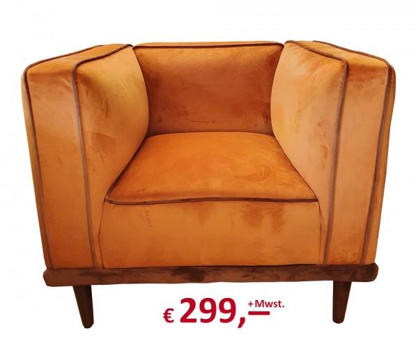 Kare Design - Sessel Chill Out - orange - Samtoptik