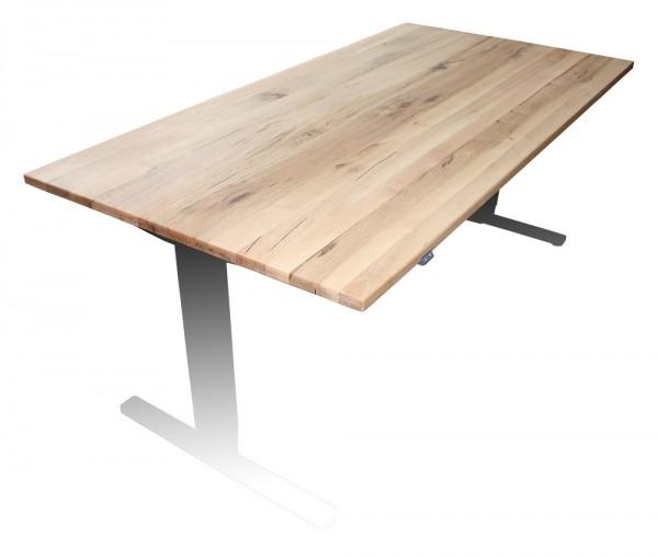 Tischplatte Wildeiche - 1600 x 800 x 27 mm - passend zu den Untergestellen weiß, silber, schwarz