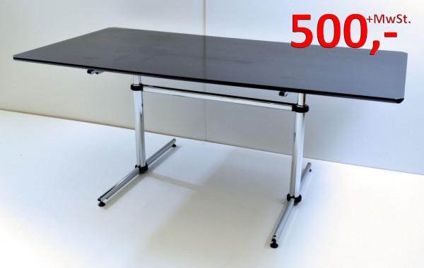 Besprechungstisch Kitos - 180 cm, höhenverstellbar - Eiche schwarz - USM Haller