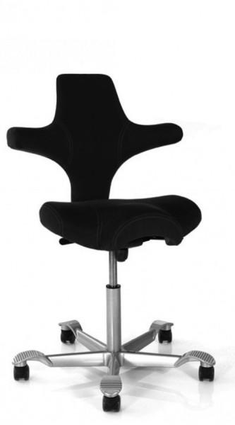 Musterstuhl - Drehstuhl Capisco 8106 - X-treme Bezug schwarz - HAG