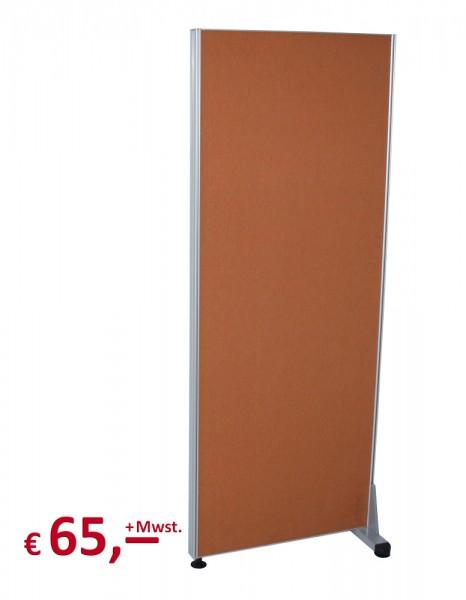 Trennwand - 154 x 60 cm - Terra cotta - inkl. 1 Standfuß