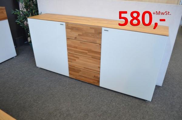 Andiamo Sideboard - 2 Türen - 4 Schubladen - mit Bodengleiter - Nussbaum/schwarz - Reinhard