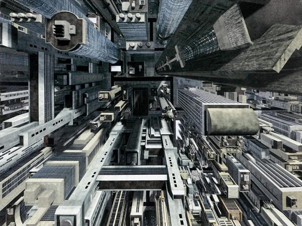 Kare Design - Bild Skyline Overview - Leinwand - 80 x 60 cm