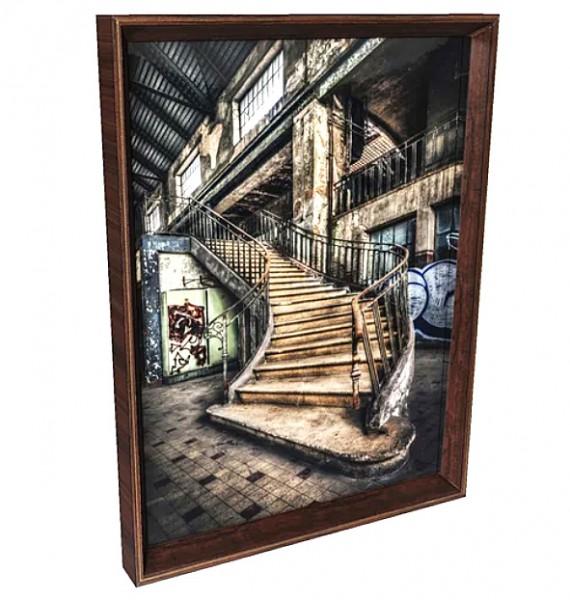 Kare Design - Bild Frame Old Staircase - 60 x 80 cm