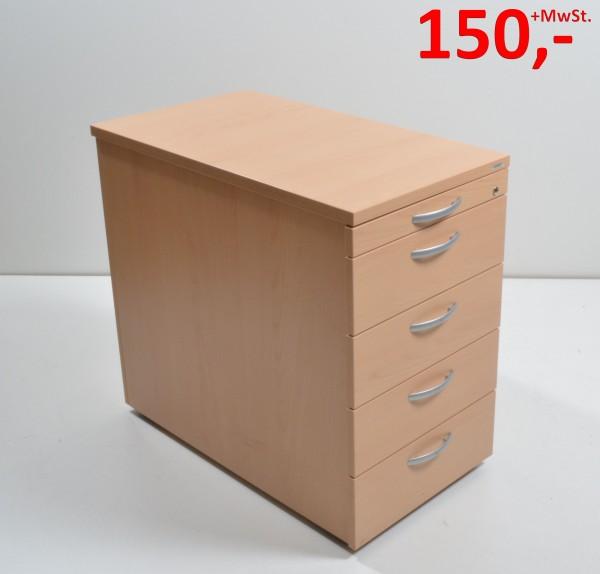 Standcontainer - 4 Schubladen, 1 Materialfach -  Buche - Vario