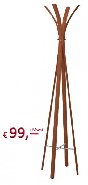 Kare Design - Garderobenständer - Libra Bonded Leather Brown - Leder - 180 cm