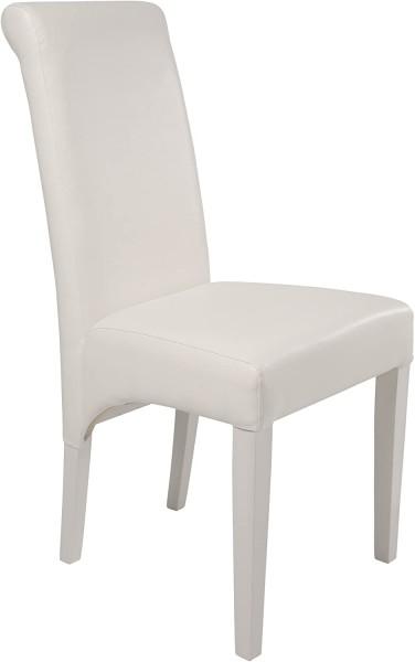 Kare Design - Stuhl Isis White Angel - weiß - lackierte Buche