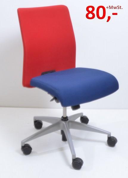 Drehstuhl XP - blau/rot - Girsberger