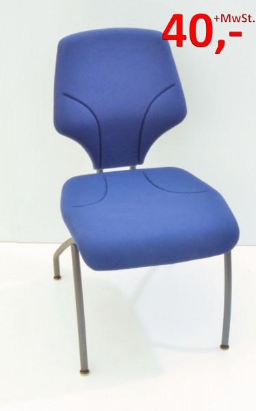 Giroflex 64-3204 Besucherstuhl - blau/anthrazit