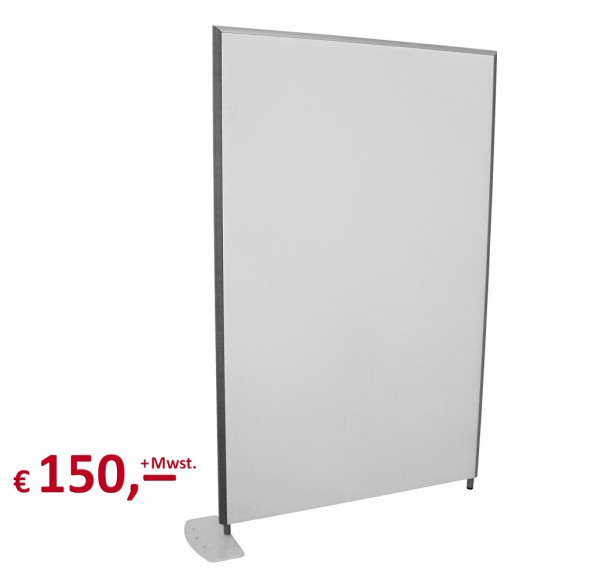 Preform - Trennwand - 199 x 125 cm - hellgrau - inkl. 1 Standfuß