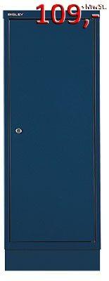 Bisley Türenschrank 114C, ein Boden, mit Sockel, blau - Neuware